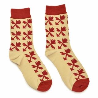 Бежевые носки с орнаментом