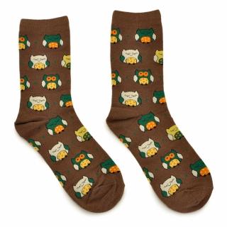 Коричневые носки с ярким рисунком