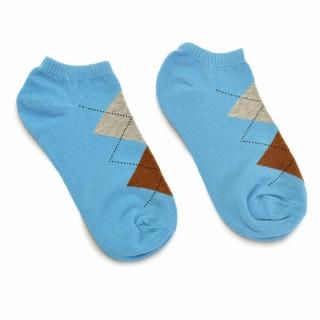 Голубые носки с ромбами