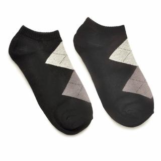 Носки #047 черные (ромбы)