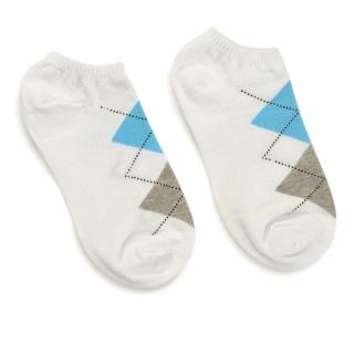 Белые укороченные носки с ромбами