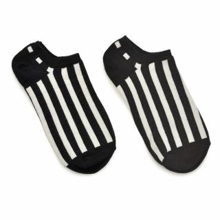 Носки #050 черные (белые полосы)
