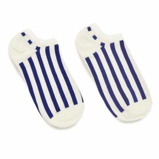 Носки #052 белые (синие полосы)