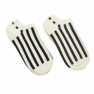 Носки #054 белые (черные полосы)