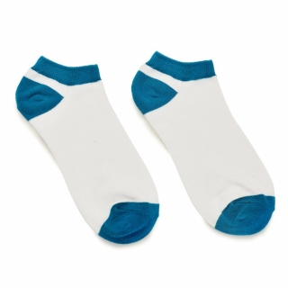 Бело-синие носки из хлопка