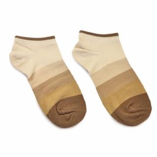 Носки #076 коричневые (в полоску)
