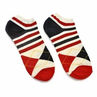 Носки #080 красные (ромбы и полосы)