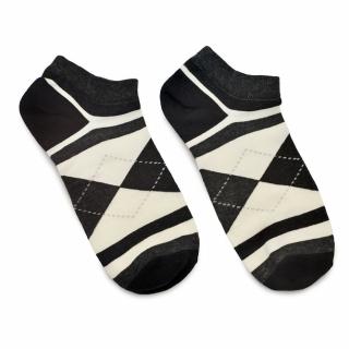 Носки #083 темно-серые (ромбы и полосы)