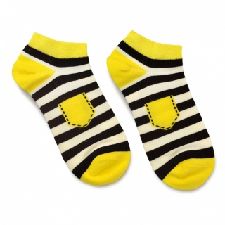 Носки #087 желтые (карман)