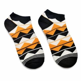 Носки с цветным рисунком зигзаг