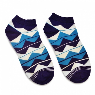 Носки #089 синие (зигзаг)