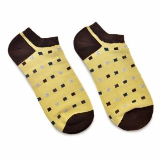 Бежевые носки с прямоугольниками