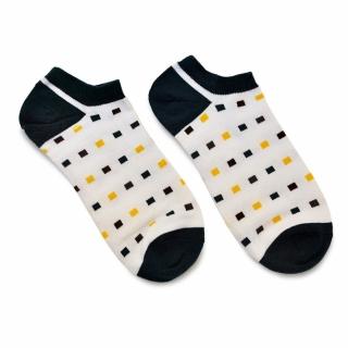 Черно-белые носки с прямоугольниками