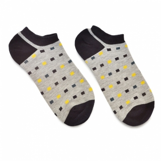 Серые женские носки с прямоугольниками