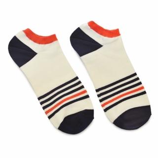 Носки #096 белые (полоски)