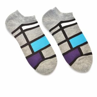 Носки #101 серые (четырехугольники)
