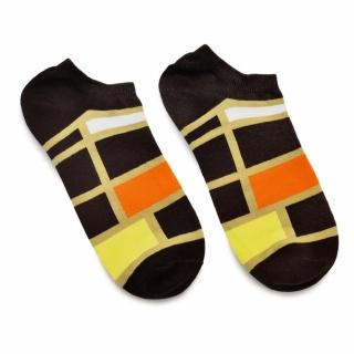 Носки #103 коричневые (четырехугольники)