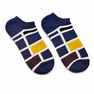 Синие носки с четырехугольниками
