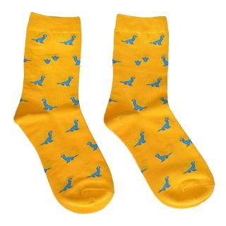 Купить желтые носки с динозаврами