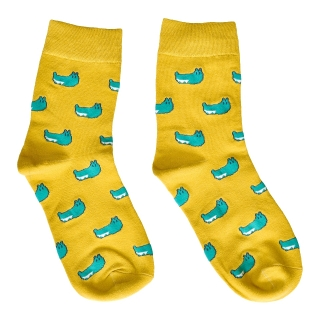 Купить цветные носки с узором в виде гусениц