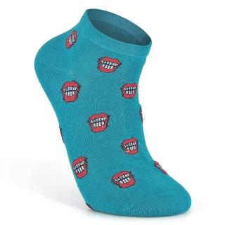 Цветные короткие носки с улыбкой