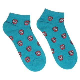 Купить цветные носки летние бирюзовые