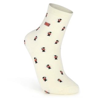 Купить бежевые носки с британским флагом