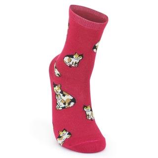 Купить розовые носки с кошками