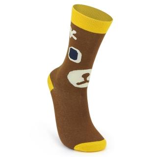 Носки #119 коричневые (медведь)