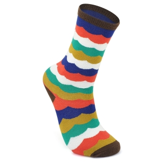 Купить разноцветные носки с волнами