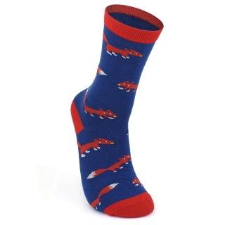 Купить синие носки с лисами