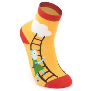 Носки #125 желтые (лестница)