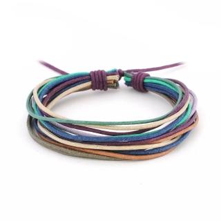Цветной браслет из нитей