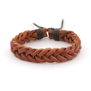 Купить коричневый плетеный браслет