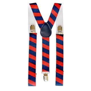 Купить подтяжки в полоску красно-синего цвета