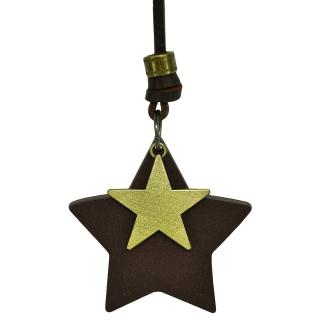 Подвеска #005 (звезда коричневая)