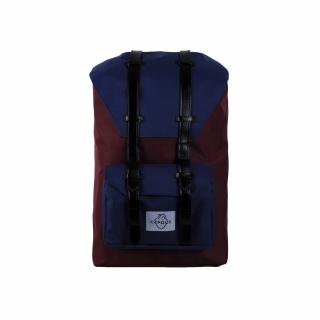 Рюкзак #007 (сине-бордовый)
