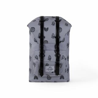 Рюкзак #010 (бело-черный)