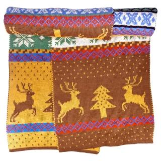 Скандинавский шарф коричневый