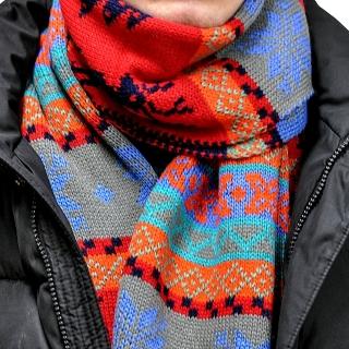 Скандинавский шарф красный