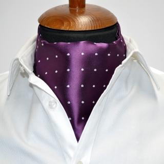 Купить галстук Аскот фиолетовый