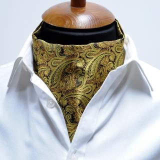 Купить золотистый галстук Аскот с узором