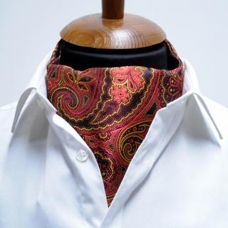 Купить галстук Аскот с красным пейсли