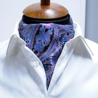 Купить галстук Аскот с голубым узором