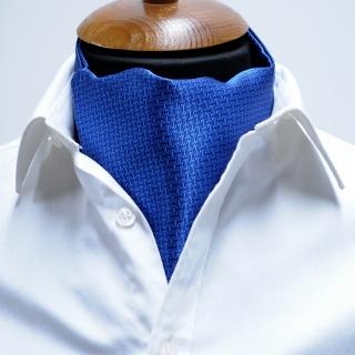 Купить синий фактурный галстук Аскот