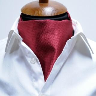 Купить бордовый фактурный галстук Аскот