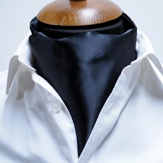 Купить галстук Аскот однотонный черный