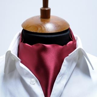 Купить однотонный бордовый галстук Аскот