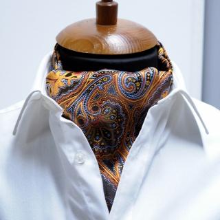 Купить галстук Аскот с рыжим узором