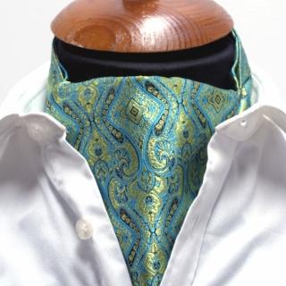 Купить бирюзовый галстук Аскот шейный платок